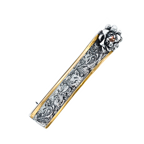 Silver and Gold Brooch