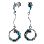 Silver Earrings with Enamel
